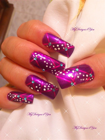 Purple New Year S Christmas Nail Design Nail Art Gallery