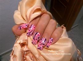 Abstract, Pink Wonderland Nails