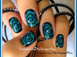Hypnotic Swirl Halloween Nails   Spiral