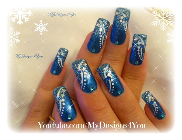 Winter Nail Art | New Year`s Nails