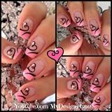 Hearts Valentine's Day Nail Art