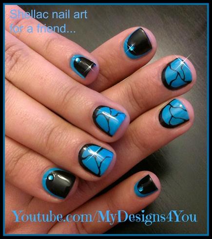 Shellac nail art for a friend