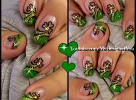 nail art:  St. Patrick's Day Nail Art