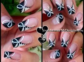 Quick Black and White Nail Art