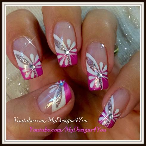 floral pink nail art  springsummer  nail art gallery