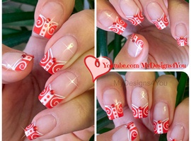 Red Nails | White and Red French Tip Nai