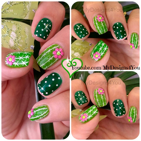 Fun Cactus Nail Art