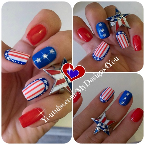 4th of July Nail Art | Independence Day