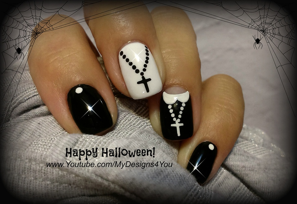 Halloween Nail Art | Fun \'Nun\' Nails - Nail Art Gallery