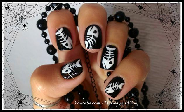 Halloween Fish Bones Design