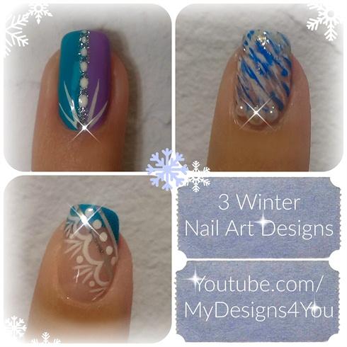 3 Winter Nail Art Designs Nail Art Gallery