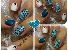 nail art: Winter Dotticure Nail Art | New Year's