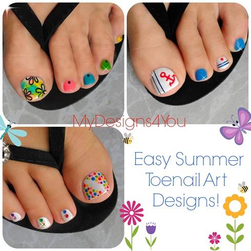 3 Easy Summer Toenail Designs Nail Art Gallery