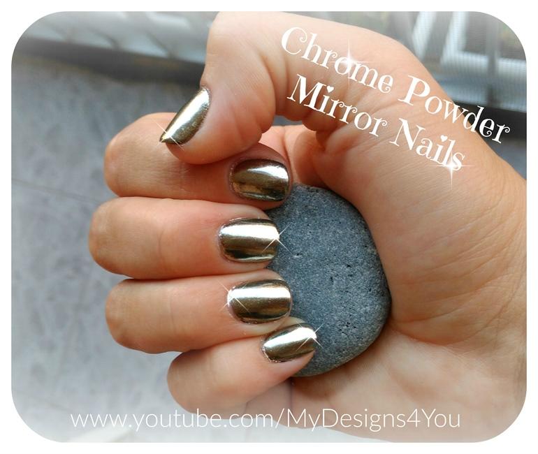 Chrome Powder Mirror Nails - Nail Art Gallery