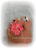 Super Easy Matte Toenail Art Design