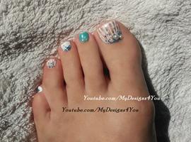 Seashell toenail Art design