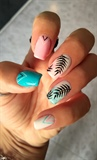 Tropical Pastel Colors Manicure