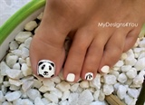 Panda Toenail Art