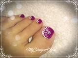 Beautiful Purple Pedicure