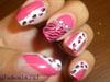 Pink & White Leopard with zebra