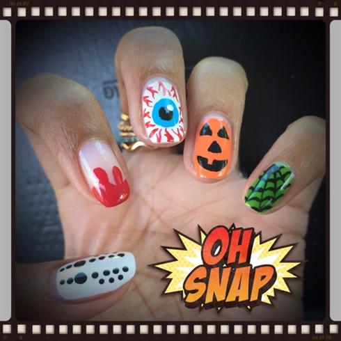 Happy Halloween Nail Art