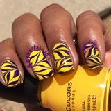 Yellow & Purple Watermarble