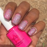 Holo Over Neon Pink