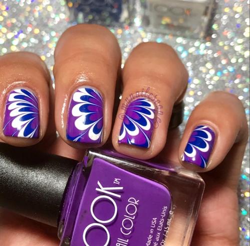 Purple & Blue WaterMarble