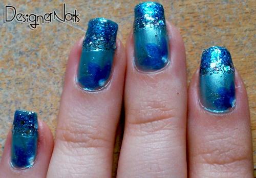 Sassy Blue Nails