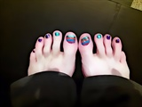 new colors on my toes :-)