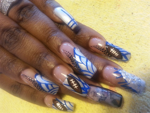 Dallas Cowboys Nail Art Gallery