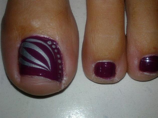 Purple Toes Nail Art Gallery