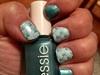 Blue Hues & Stamping On Naturals Nails