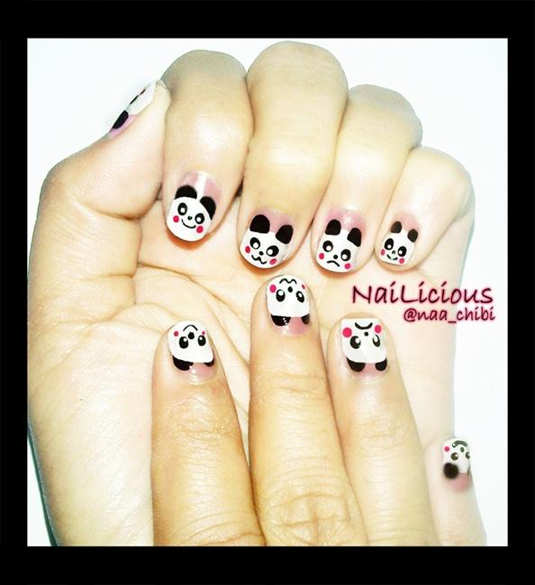 Cute Panda - Nail Art Gallery