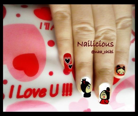 Cute Pucca Nails