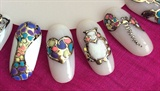 Gel Polish#jewellery Design#free Hand##