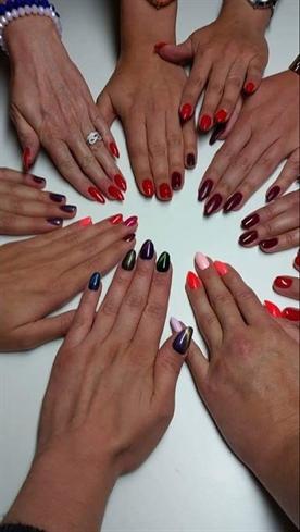 Gel Polish#multicolours#nails#cateye