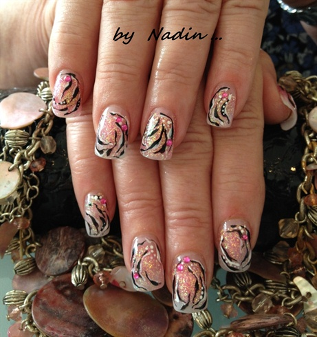 Tiger design nail art gallery tiger design prinsesfo Images