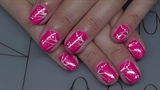 Neon Pink mit Glitzer und Zierstreifen