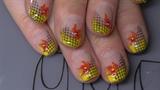 gelb mit Stamping Gitter und Blume