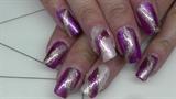 simple shimmering full cover nail design