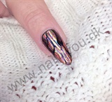 Gele negle med negle foil - nail art