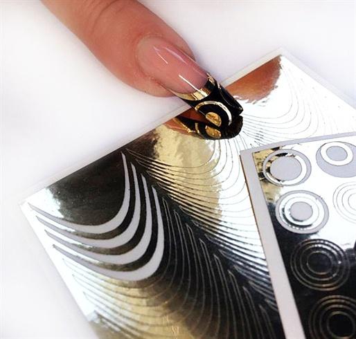 Gele Negle sticker - Nail Art Sticker