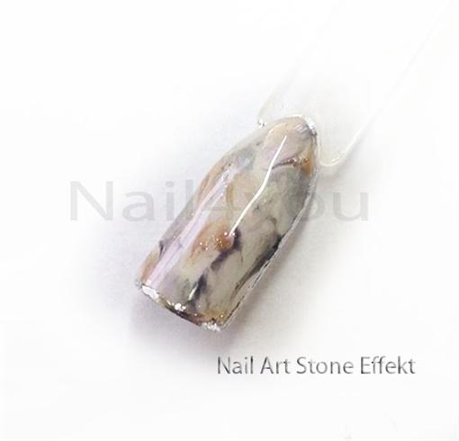 Nail art negle - Stone effekt