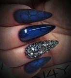 Gel Polish Blue Metal