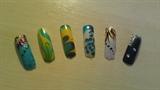 Marbling and nail art
