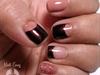 Pink Half Moon Nail Design
