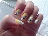 Yellow zebra stribes