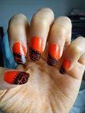 Orange with black crackel
