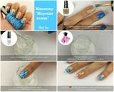 scheme manicure sea wave